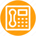 call, communication, contact, device, phone, receiver, telephone icon