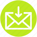 arrow, email, envelope, inbox, letter, message icon