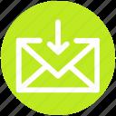 arrow, email, envelope, inbox, letter, message