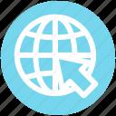arrow, circle, earth, global, map, world, world globe