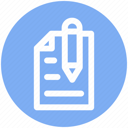 list, page, paper, pen, pencil, sheet, writing icon