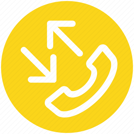 arrows, calling, connection, incoming call, phone, smartphone, telephone icon