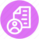 author, document, file, page, paper, sheet, user