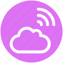 cloud, data, internet, signal, wifi signal, wireless icon