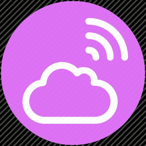 cloud, data, internet, signal, wifi signal, wireless icon