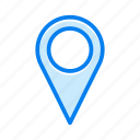 contact, gps, location, pin icon