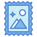 communications, email, letter, mail, postcard, social, stamp icon