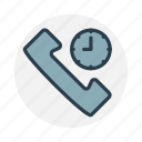 call, call center time, phone, support, telephone, time icon icon