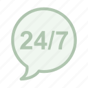 always, availability, call, center, chat, service icon icon