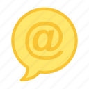 arobase, email, mail, message icon icon