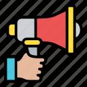 megaphone, announcement, marketing, communication