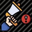 bullhorn, digital, marketing, promotion, announcement, megaphone
