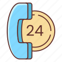 24 hours, hours icon