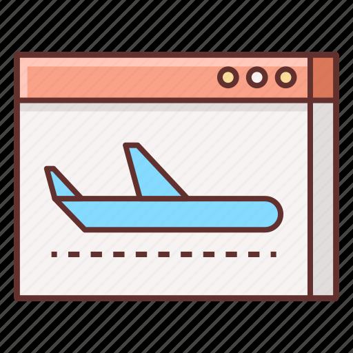 landing, landing page, page icon