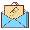chain, mail, mail chain icon