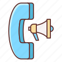 advertising, phone, phone advertising, phone survey icon