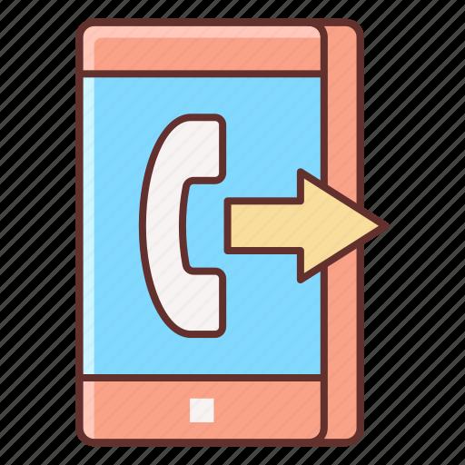 call, call forwarding, calling, sending icon