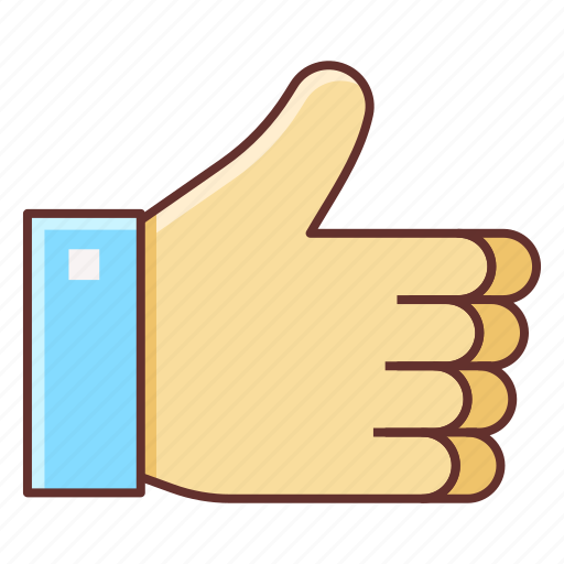 great, like, social media, thumbs up icon