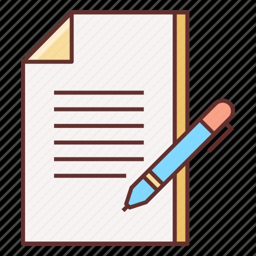 doc, document, note, write icon