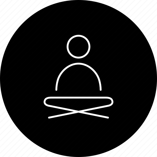 On, one on one, one on one yoga, self healing, self meditation icon - Download on Iconfinder