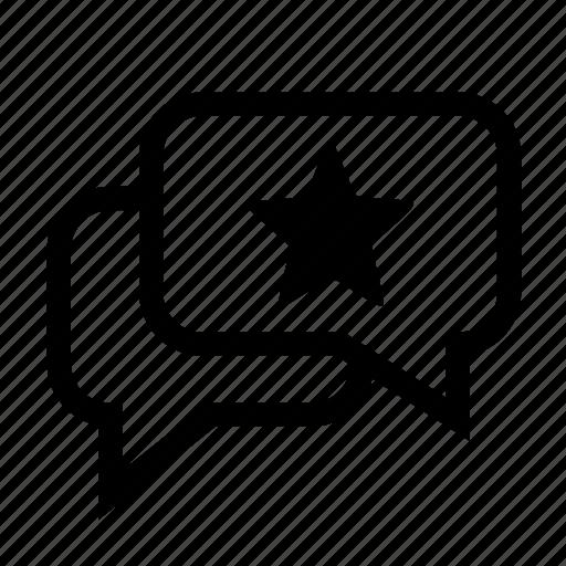 comment, conversation, message, recommendation, recommendations, ui icon