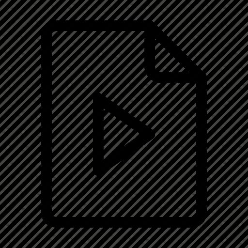 document, media, movie, multimedia, ui, video icon