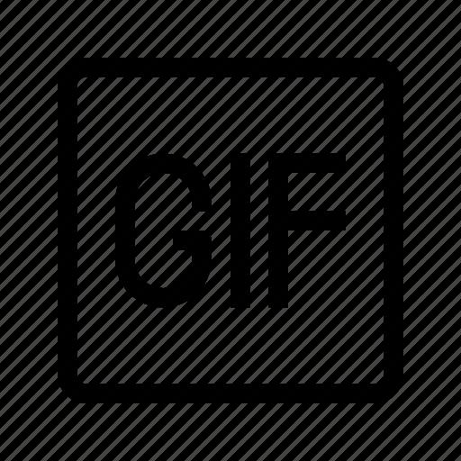 gif, media, movie, play, ui, video icon
