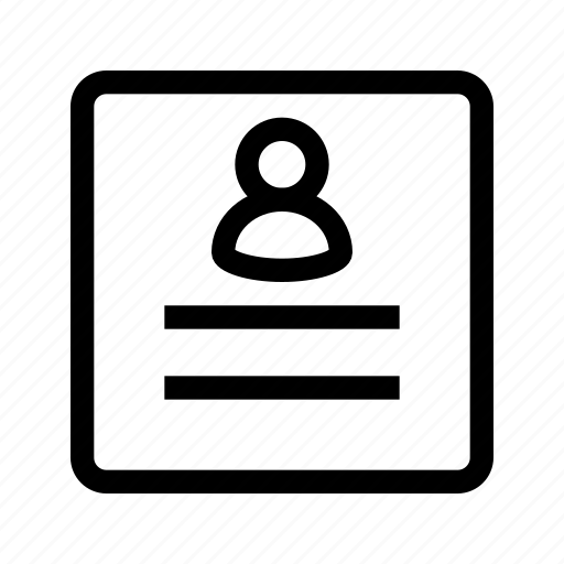 account, avatar, document, profile, ui, user icon
