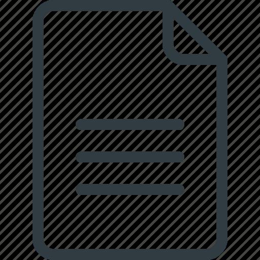 content, copywriting, document, file, paper icon