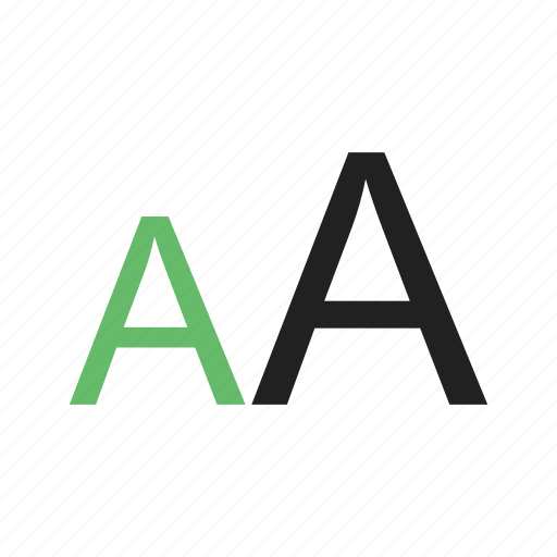 Alphabet, character, letter, text, font, size icon