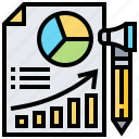 analysis, data, file, media, report icon