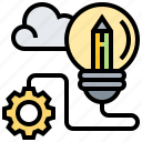 creative, idea, lightbulb, solution, thinking