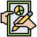 check, content, management, report, writing icon