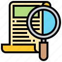content, document, file, finding, search