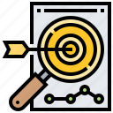 aim, dartboard, focus, objective, target icon