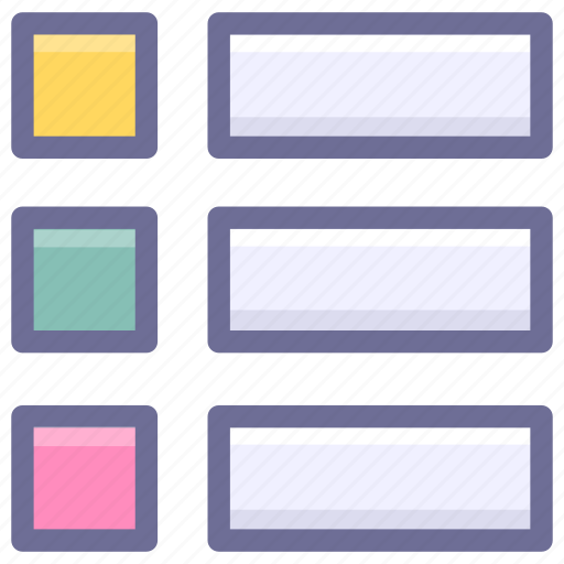 content, display, list icon