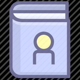book, contact, contact book icon
