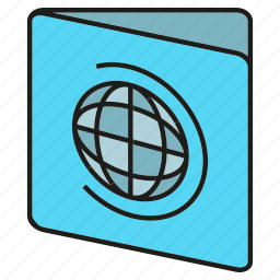 card, globe, id, passport, visa icon