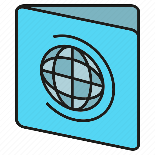 card, globe, id, passport, visa icon