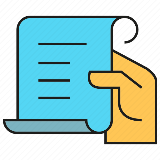 agreement, contract, document, hand, hold, paper icon