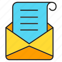 agreement, contract, envelope, letter, mail, paper, send icon