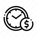 contract, money, time icon
