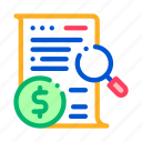 business, check, contract, finance, money icon