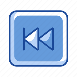arrow, back button, preview button, remote icon