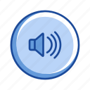 audio, full volume, music, speaker icon