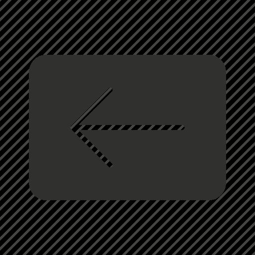 arrow, back, pointer, preview button icon