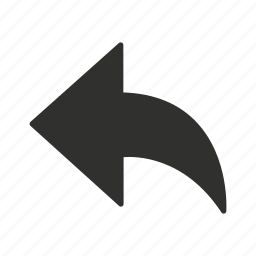 arrow, back button, download, upload icon