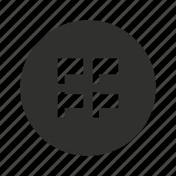 flag, home button, menu, menu bar icon