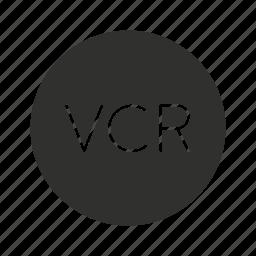 dvd, vcr, video, video cassette recorder icon