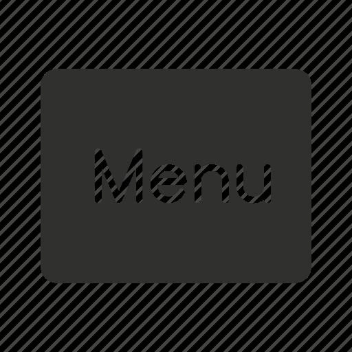 menu, menu button, remote, restaurant icon